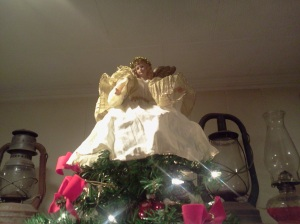The Angel of the Lord atop our tree